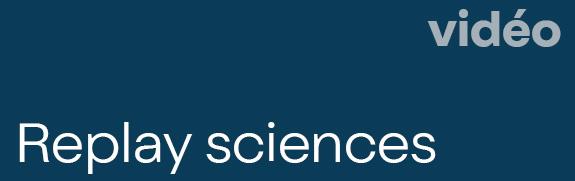 Bouton cliquable playliste vidéo les mardis de l'espace des sciences